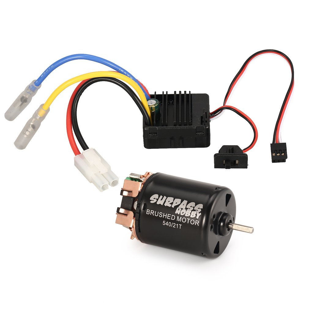 small resolution of surpass hobby 540 21t brushed motor rc car parts 60a esc combo with 5v 2a