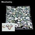 1000 unidades/pacote 4mm Hot Moda Brilhante Acrílico Nail Art Glitter Charme AB Strass Prego Ferramentas de Beleza DIY Decoração