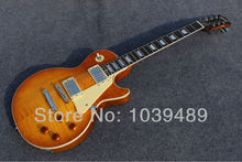 G-standard orange tiger streifen ebenholz griffbrett zu liefern qualität elektrische gitarre ems-freies verschiffen