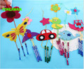 5pcs/lot 2016 New Cute Small Handmade DIY Felt Fabric Hanging Wind Chimes Kids Dolphin Owl Bird Crafts for Kindergarten