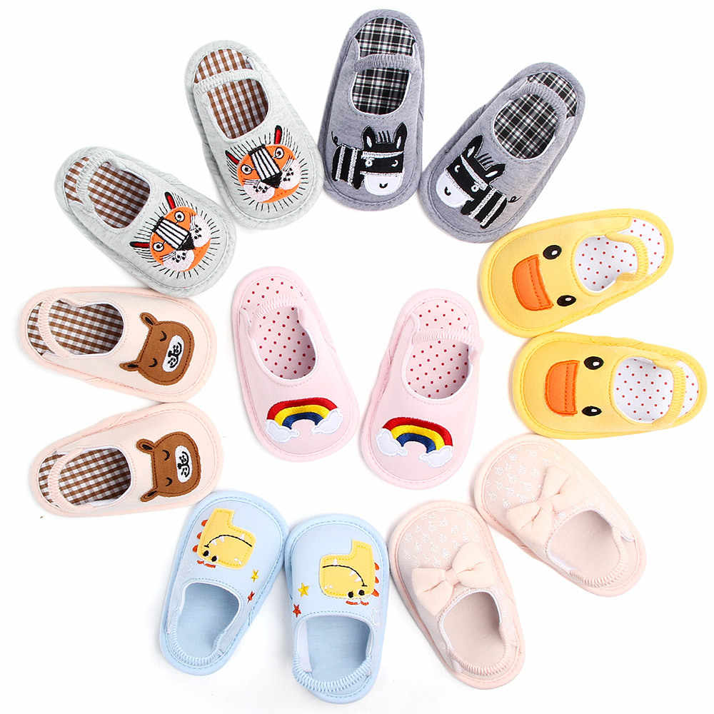 Baby Shoes kids Slippers Children Funny Soft Boys Home House Shoe Kids Baby Girls Cartoon Slippers Indoor Floor Shoes With Belt