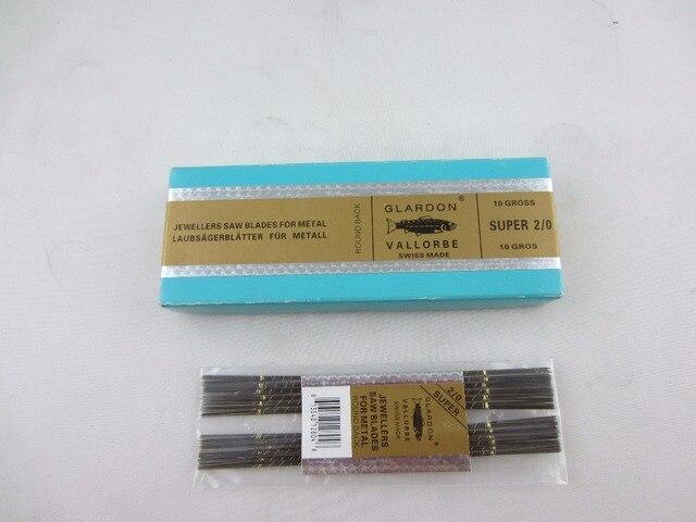 Livraison gratuite 2/0 1 sac = 144 pièces, lames de scie de bijoutiers, lames de scie Glardon Vallorbe, lames de cadre de coupe meltal diamant or argent