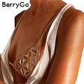 BerryGo sexy beach chains bra jewelry Vintage hollow out body chains women accessories Boho gold bijoux