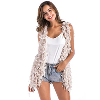 Bohoartist Women Autumn Sweater 2018 Loose Casual Cardigan Sleeveless Mid Length Plain Fashion Bohemian Winter Knitwear for Girl