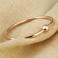 Woman Elegant Fashion Bracelet - Simple Design Ball Shape Open Bangle 4