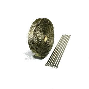 Image 3 - 10 m עמעם פליטת צינור קלטת חום עמיד לעטוף שחור פליטה לעטוף אוטומטי מנוע פליטה סעפת חום חומת גלישה