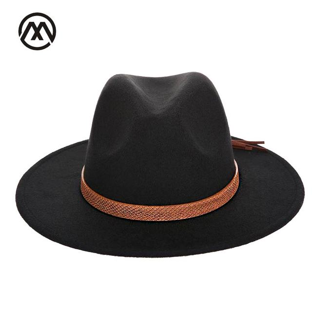 df7ca7a2c5e Autumn and winter men s fedora hat classical sombrero hairy headscarf  imitation wool cap sunshade boys high