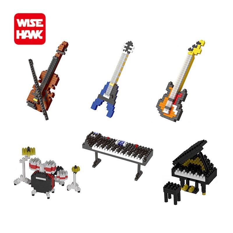 Wisehawk nanoblocks acción lindo figuras musicales instrumento de seguridad abs