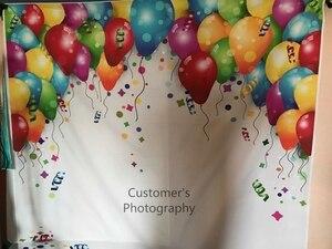 Image 4 - バルーン誕生日の背景カラフルな家族パーティーの装飾ベビー肖像ポスター写真の背景の写真スタジオ