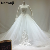 New Design A Line Lace Wedding Dresses 2016 Sweetheart Beaded Sash Backless Sexy Vintage Wedding Gowns