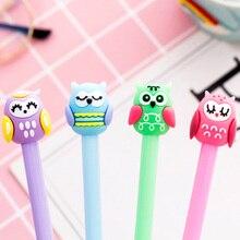 1pcs/lot  Lovely Owl Black Ink Pen For School Writing Kawaii Gel Pens School Supplies Stationery 0.5mm недорого