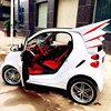 For Smart Fortwo ABS Sports Car Rear Devil Spoiler Wing For Benz 2009 2014 Except Cabriolet