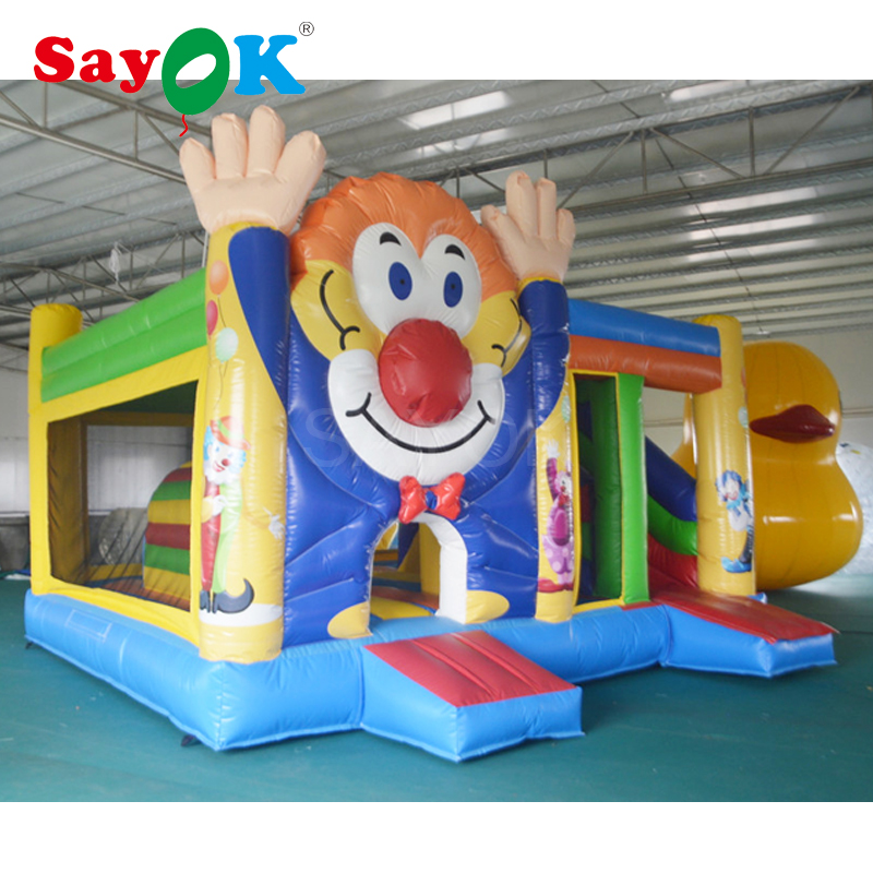 Air jumping bouncy Castle inflatable clown bouncer slide inflatable trampoline for commercial or residential use giant dual slide inflatable castle jumping bouncer bouncy castle inflatable trampoline bouncer kids outdoor play games