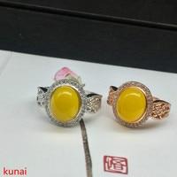 KJJEAXCMY fine jewelry 925 Silver medullary diamond ring two colors optional.