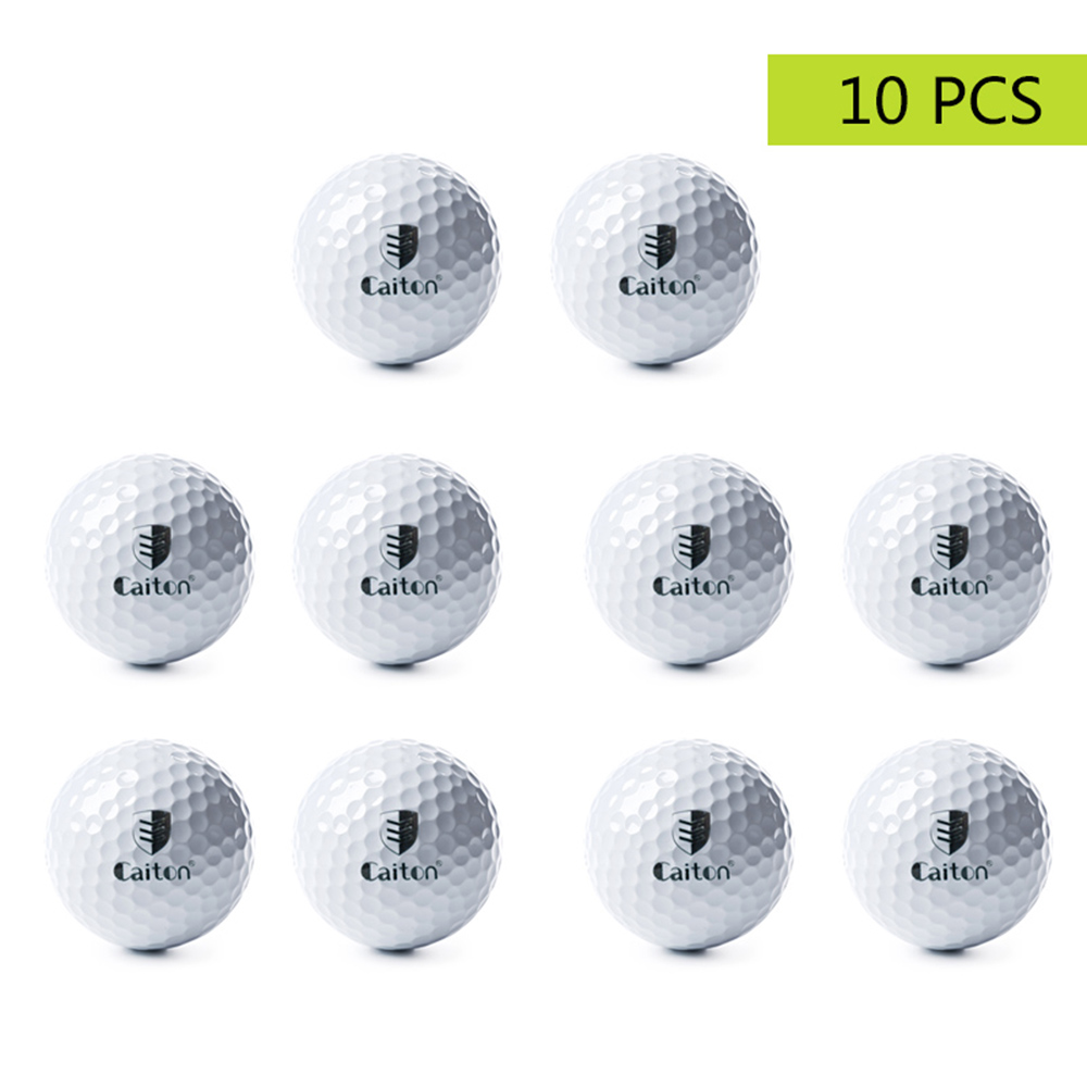 10 Golf Ball With Mesh Bag Outdoor Sport Golf Game Training Match Competition Rubber High Grade Golf Ball Golf Sports Equipment