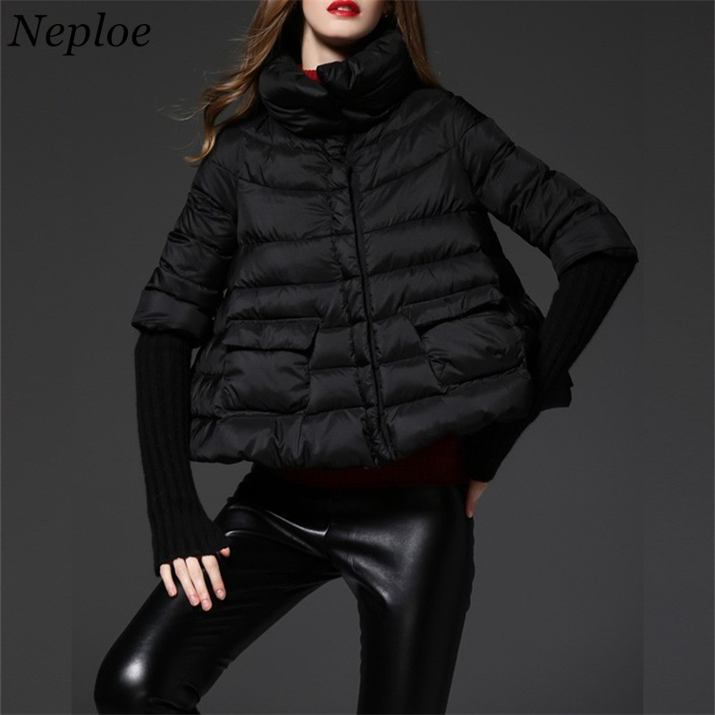 Neploe 2018 Winter Solid Pregnant Women Wadded Jackets Stand Collar Single Breasted Parkas Black Thick Fashion Down Coat 68133