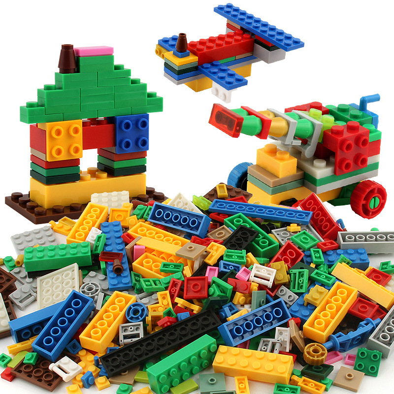 1000 Pieces Legoings Blok Bangunan DIY Kota Kreatif Mainan Model Batu - Mainan bangunan dan konstruksi - Foto 2