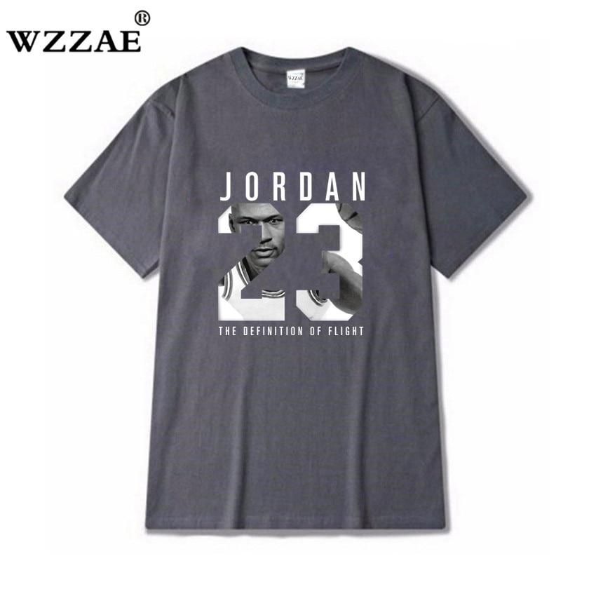 8f4ed4cd3c3 23 WZZAE 2018 Roupa Nova Marca Jordan Homens T shirt Dos Ganhos T Shirt da  Cópia de Algodão camisa Dos Homens T Homme Camisetas De Fitness Hip hop  Tshirt em ...
