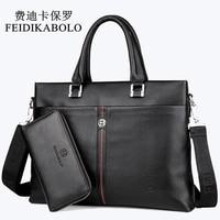 FEIDIKABOLO Famous Brand Man Bag 100 Genuine Leather Handbags Business Briefcase Men S Crossbody Bag Cowhide