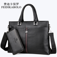 FEIDIKABOLO Famous Brand Man Bag 100 Genuine Leather Handbags Business Briefcase Men S Crossbody Bag Cowhide