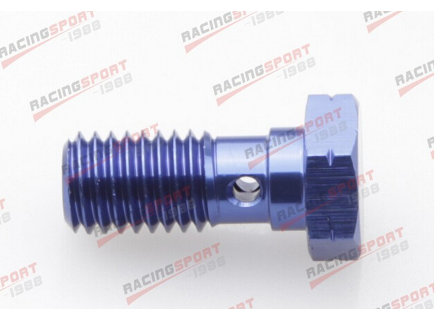 Banjo Bolt UNF 3/8-24UNF Aluminium Alloy Banjo Bolts Brake Adaptor AD63016 Blue