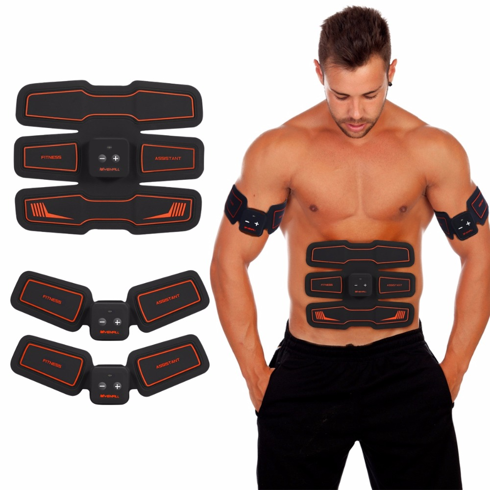 Electric Abdominal Muscles Stimulator Vibration Pad & Belt System Wireless Abs Muscle Ems Training Gear Toning For Abdomen & Arm Diversified In Packaging Health Care