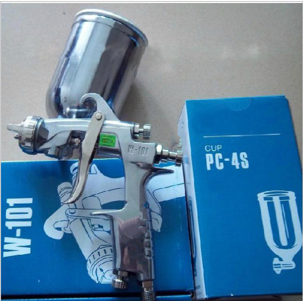 Wholesale  W-101 Manual  HVLP  Spray Gun Gravity feed 1.0/1.3/1.5/1.8mm with 400ml PC-4S CUP Furniture Car Coating Painting