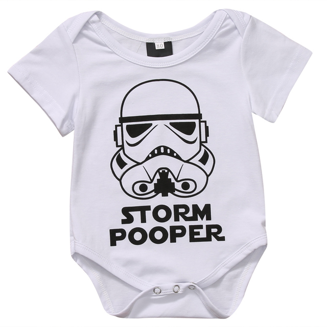 Infant Newborn Baby Boy Girl Cartoon Funny Short Sleeve  Romper Clothes Outfit  Baby Clothing 2