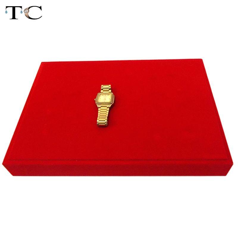 Haut Rang Or Bijoux Affichage Ensemble Stand Plat Plateau Vitrine Pour Bracelet Pendentif Collier Bracelet Cheville Bijoux Stand Titulaire