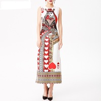2018 Spring Summer European American Style Women Elegant Print Streetwear Fit And Flare High Quality Fashion