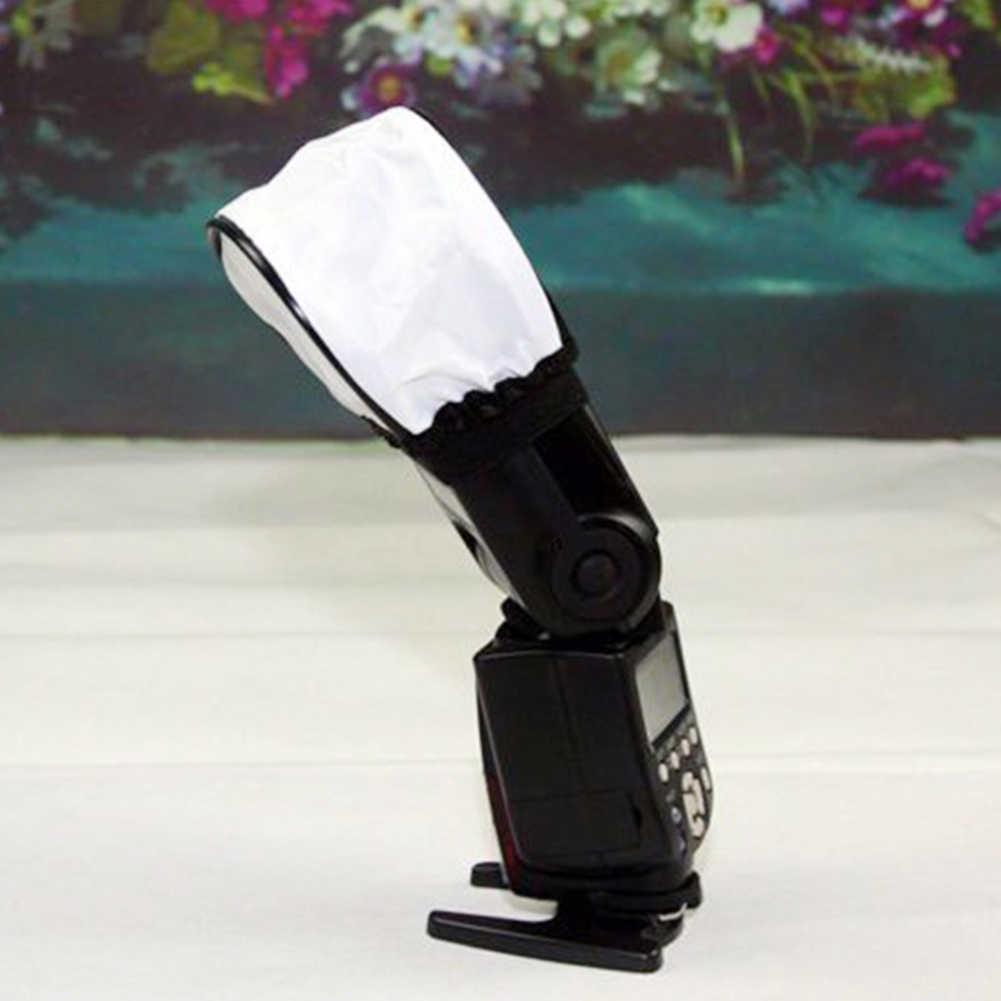 Lâmpada de Flash SLR Flash Da Câmera Difusor Suave Caixa Universal Cobertura de Pano Photo Studio Acessórios