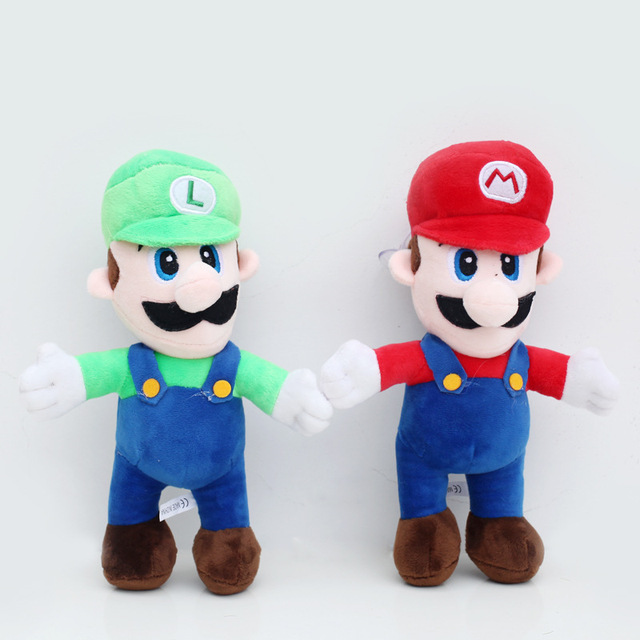 2pcs lot 25cm super mario plush doll toys super mario luigi brothers