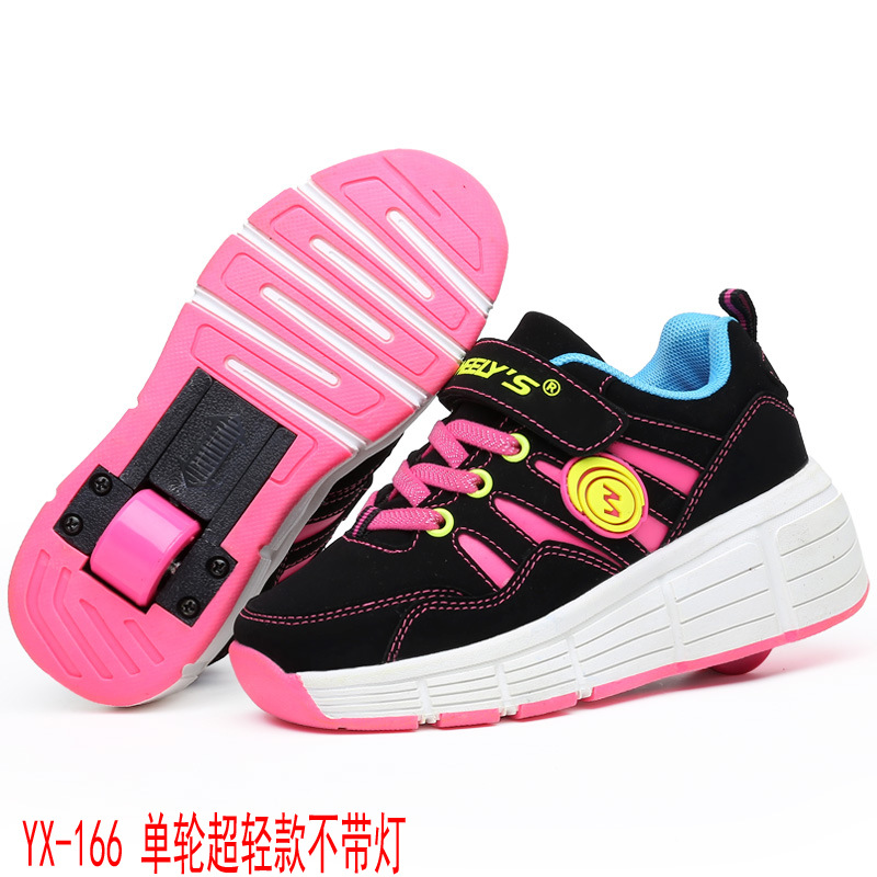 EUR 28-37 NEW Children Junior Roller Skate Shoes Kids Sneakers With Heelys Boys Girls One Wheel Shoes Adult Casual Boys Shoes