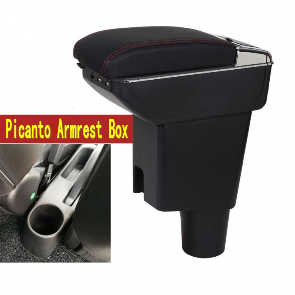 Pour KIA picanto matin JA boîte Accoudoir central boîte de contenu de Magasin avec porte-gobelet cendrier avec interface USB