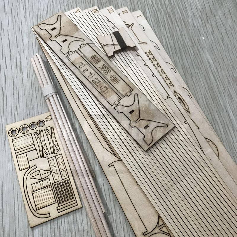 Купить с кэшбэком Sailing Ship America 1851 Wooden Assembly Model Kits DIY Western Classic Saillingboat Laser Cutting Process Puzzle Toys