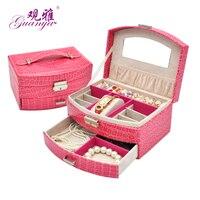 High Grade Leather Jewelry Box Cosmetic Box Storage Box Korea European Princess Birthday Gift Makeup Organizer
