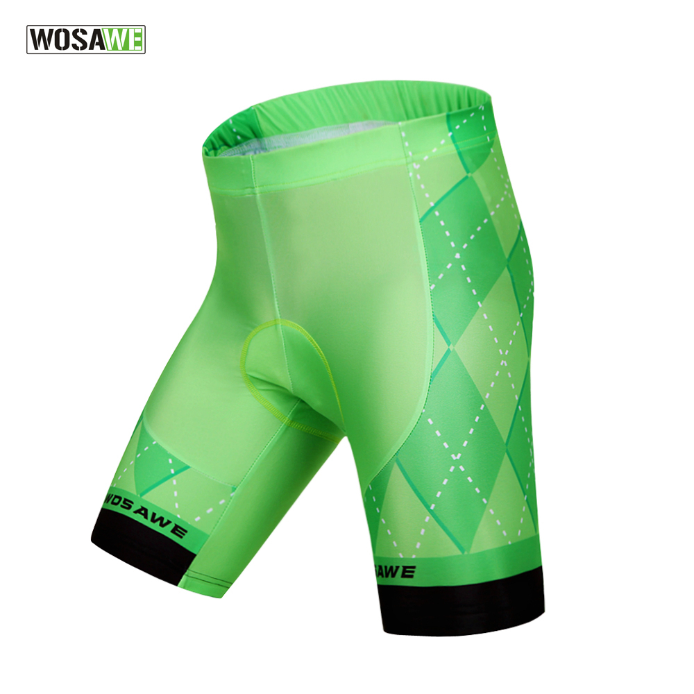 WOSAWE Men's Cycling Shorts 4D Padded Mountain Biking Shorts Bike Bicycle Shorts Summer Cool Cycling Clothes High Quality