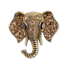 DropShipping For Men and Women Elephant 2 Colors Unisex  Jewelry Elephant Brooches Animal Party Accessories