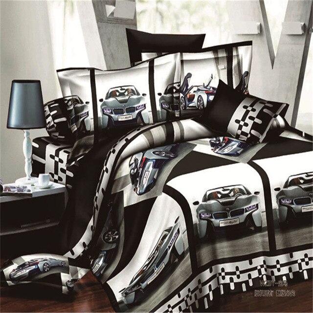 Heimtextilien Bmw Auto Muster Queen Size 3d Bettwasche Sets 4