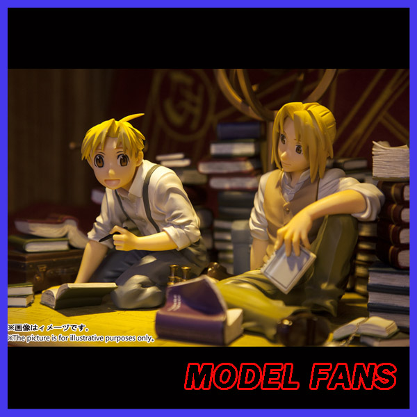 MODEL FANS IN-STOCK 20cm height Fullmetal Alchemist Edward Elric and Alphonse Elric gk resin statue figure toy for collection anime fullmetal alchemist edward elric cosplay full metal alchemist cosplay costume