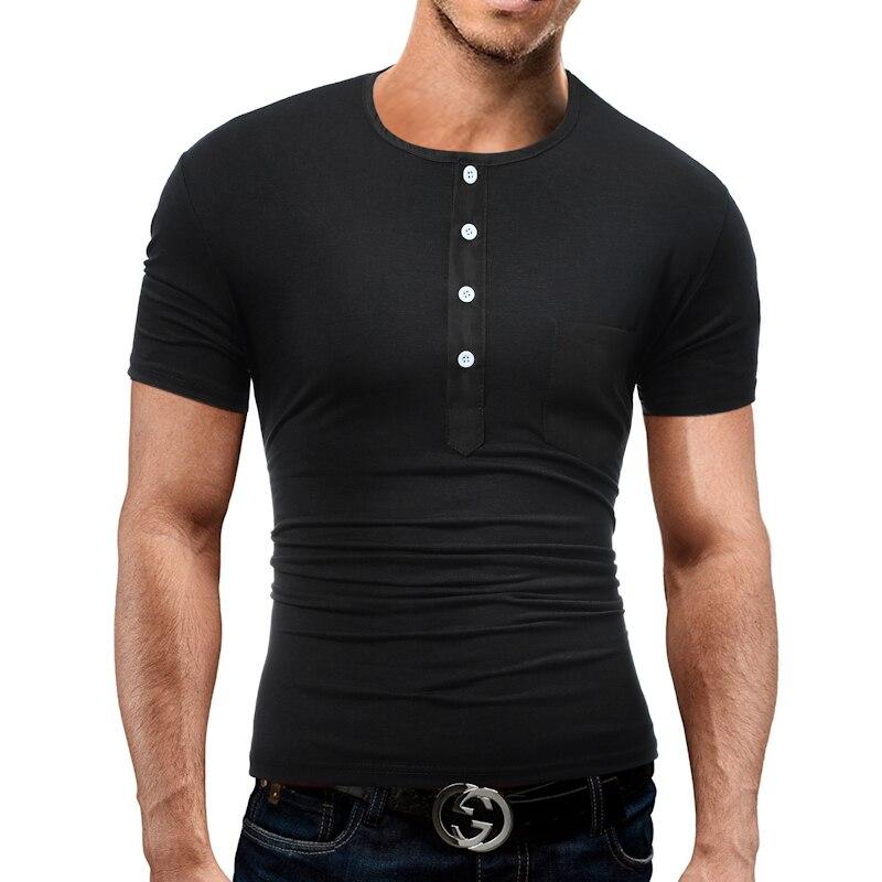 Brand 2018 Fashion Male O-Neck Polo Shirt Man Solid Color Slim Polo Men XXXL DD04