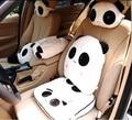 Panda bonito Almofada Carro Assento Macio Encosto de Cabeça Do Pescoço Para Trás Suporte Lombar Resto Estilo Escritório Auto Cobre Quente Pingente CSP01