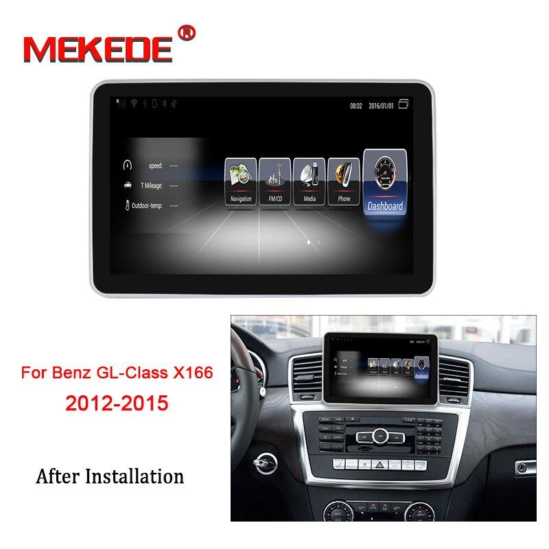 MEKEDE X166 HD Android 7.1 para Mercedes Benz GL-Classe 2012-2015 Rádio Do Carro Monitor de Navegação GPS Multimídia unidade da Cabeça do bluetooth