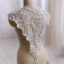 1-5 Pieces European Embroidery Wedding Veil Lace Trim Handmade DIY Materials Sequins Fabric Decor Accessories Applique