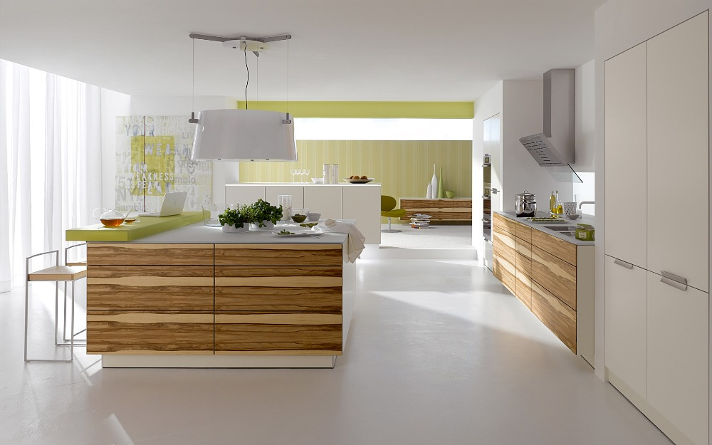 High gloss top quality modern custon mdf laminate solid for Solid wood modern kitchen cabinets