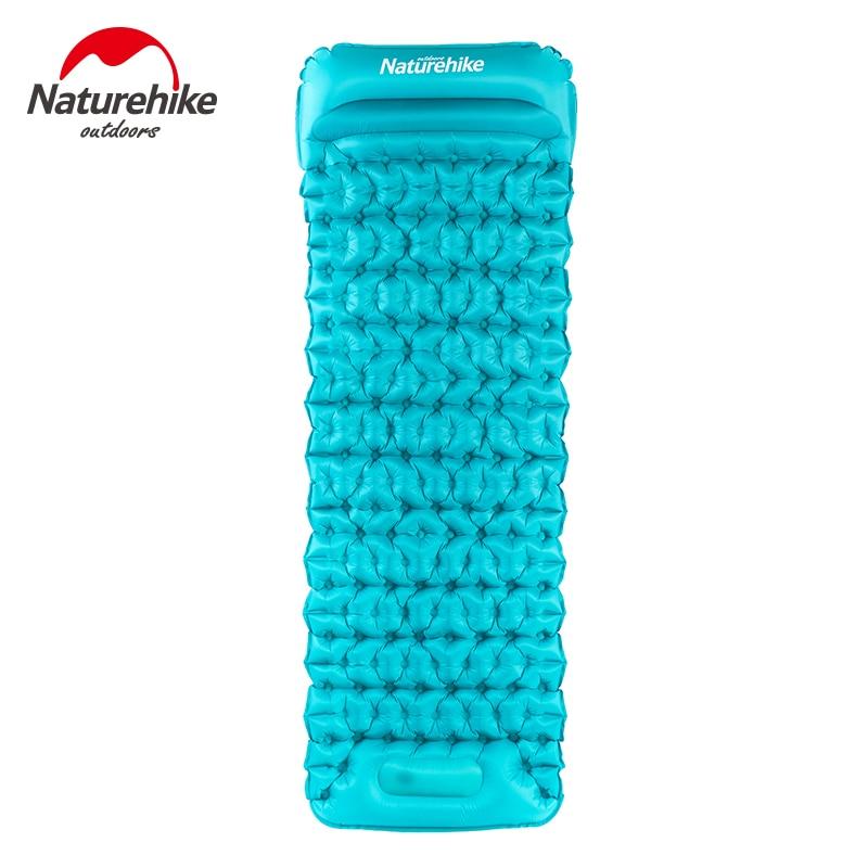 Naturehike Camping Mat Air Bed Waterproof Nylon Ultralight Sleeping Pad Moisture proof Outdoor Air Mat Inflatable