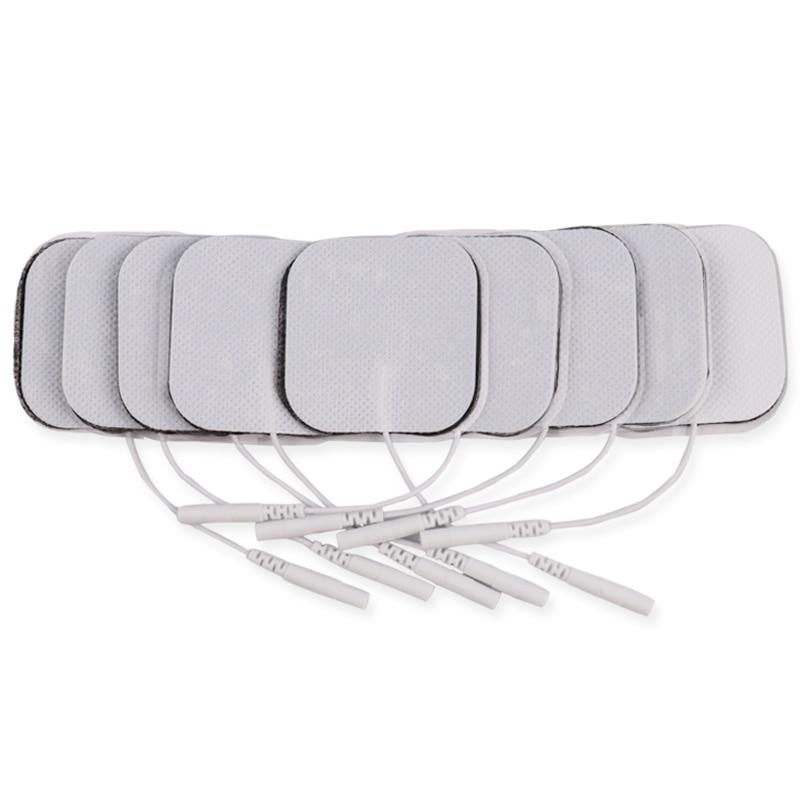 100Pcs 5x5cm Nerven Muscle Stimulator Selbst Adhesive Silikon Gel Elektrode Pads Tens Elektroden Digitale Therapie Maschine massage