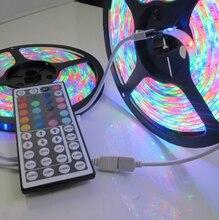 1-10m 3528 RGB led strip light 60led/m tira rgb ip20/ip65 waterproof tape ribbon lamp RGB 3528 DC12V+44key IR Remote Controller