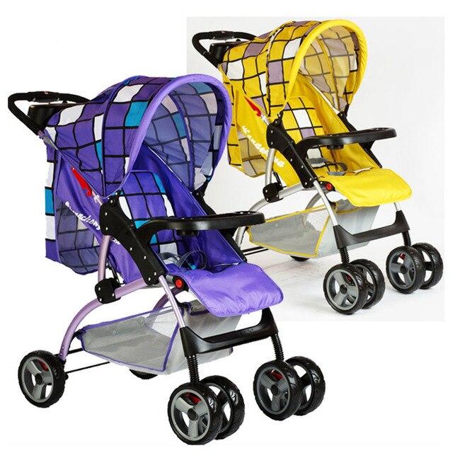 Gratis shippingLightweight Kinderwagen Vervoer Platte Liggen Vier Wiel Kinderwagen Buggy Diner Plaat 3 Niveaus Aanpassing Bodem Mand