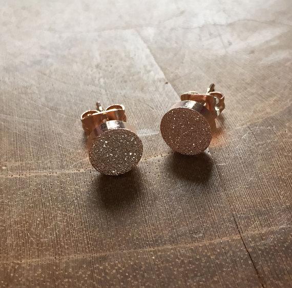 Minimalist Dots Earings Fashion Jewelry Stainless Steel Shine Druzy Earrings For Women Best Friend Gifts Boucle D'oreille 2018